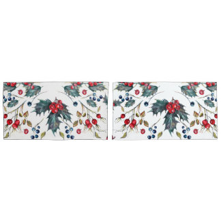 Christmas Holly & Berries Pillowcases