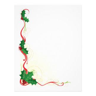 Christmas Holly Border Flyer