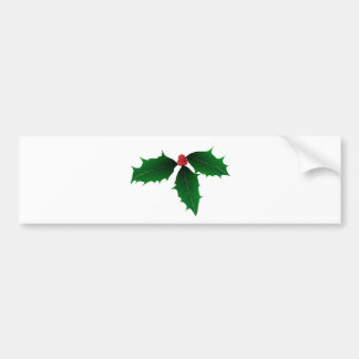 Christmas Holly Bumper Sticker