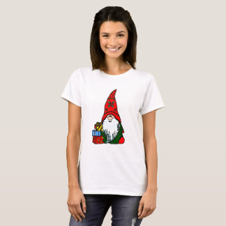 Christmas Holly Gnome T-Shirt