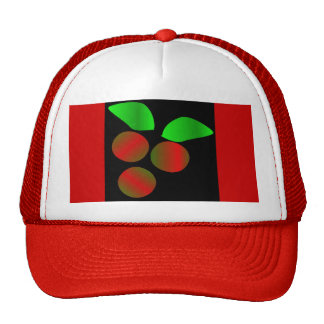 Christmas Holly II In Red Mesh Hat