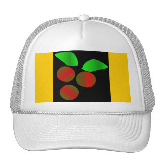 Christmas Holly IV In White Mesh Hat