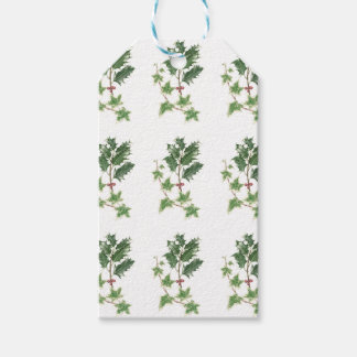 Christmas Holly & Ivy Sprig Botanical Gift Tags Pack Of Gift Tags