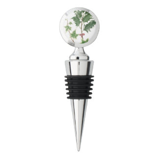 Christmas Holly & Ivy Sprig Botanical Wine Stopper