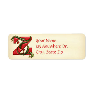 Christmas Holly Monogram Z