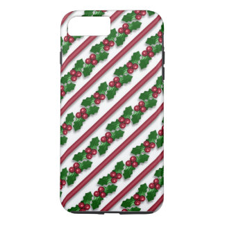 Christmas holly pattern iPhone 7 plus tough case