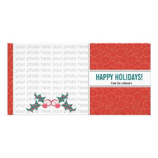Christmas Holly Photo Card {4 x 8}