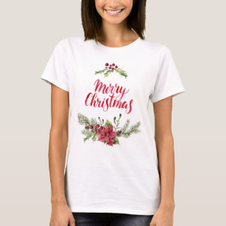 Christmas   Holly & Pines Festive Quote T-Shirt