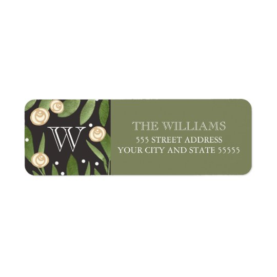 Christmas Holly - return address label