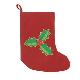 Christmas holly small christmas stocking