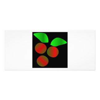 Christmas Holly VIII Rack Card Template