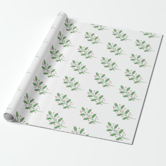Christmas Holly Wrapping Paper