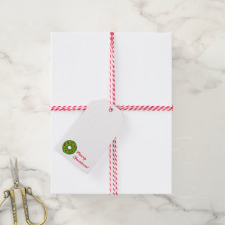 Christmas Holly Wreath Cookie Holiday Gift Tags Pack Of Gift Tags