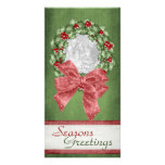 Christmas Holly Wreath Picture Card