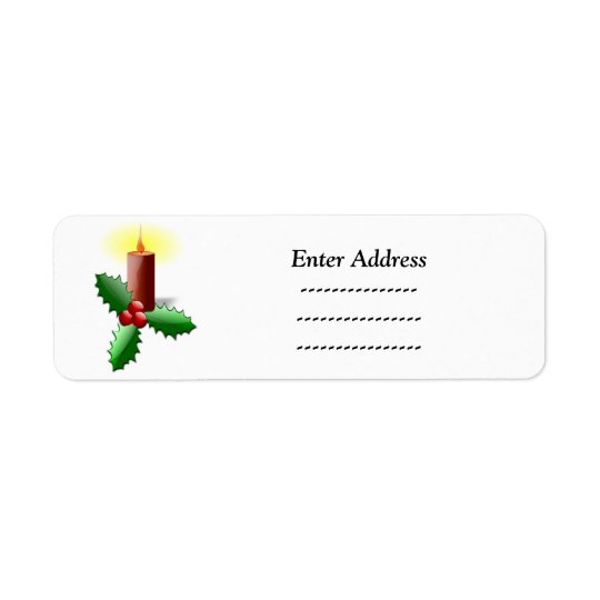 Christmas holy berries address Sticker or gift tag Return Address Label