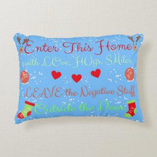 CHRISTMAS Home of Love, Peace, Joy, Hugs Pillow