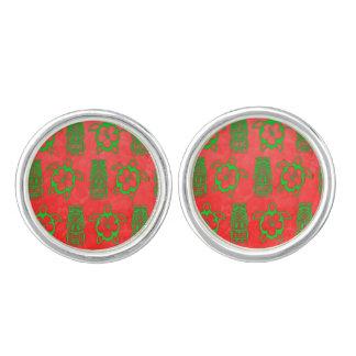 Christmas Honu And Tiki Cufflinks