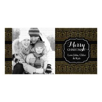 Christmas Hopi Stripes Gold Elegant Card