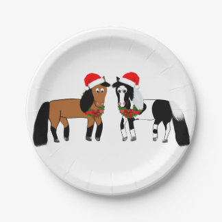 Christmas Horse Plates