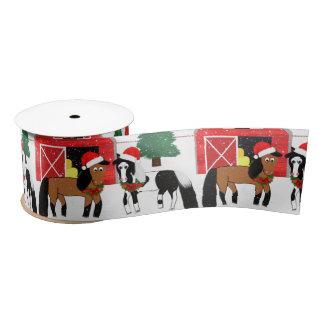 Christmas Horse Ribbon Satin Ribbon