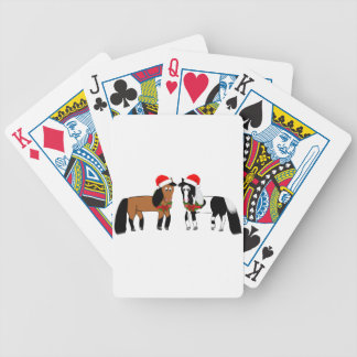 Christmas Horses Bicycle Playing Cards