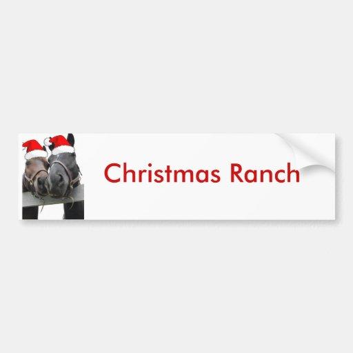 Christmas Horses Bumper Stickers