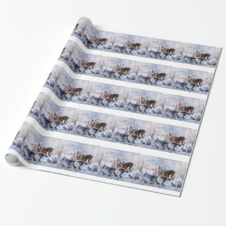 Christmas Horses Gift Wrap Paper