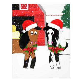 Christmas Horses Letterhead Template