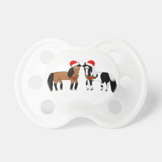 Christmas Horses Pacifier