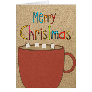 Christmas Hot cocoa with marshmallows Card