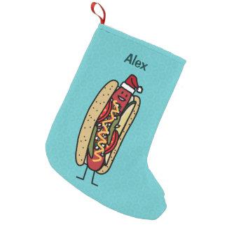 Christmas Hot Dog Chicago Style Small Christmas Stocking