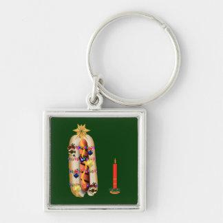 Christmas Hotdog Key Chain