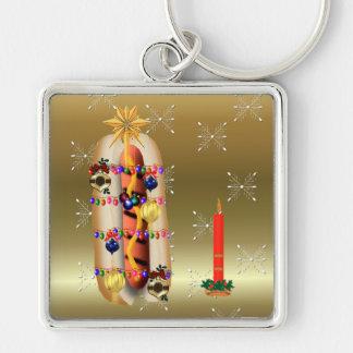 Christmas Hotdog Keychain
