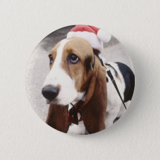 Christmas Hound 2 Inch Round Button