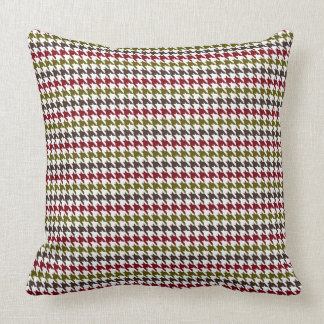 Christmas Houndstooth Pattern THROW PILLOW