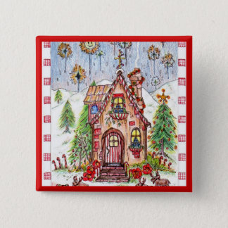Christmas house button