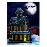 Christmas House Holiday Folk Art GIFT Card Postcard
