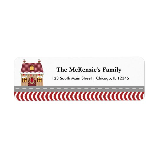 Christmas House Return Address Label