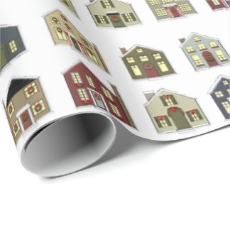 Christmas Houses Wrapping Paper