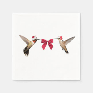 Christmas Hummingbirds Paper Napkins