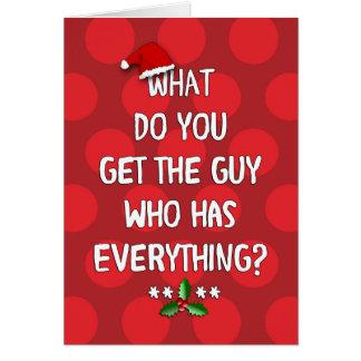 Christmas Humor for Him Greeting Card