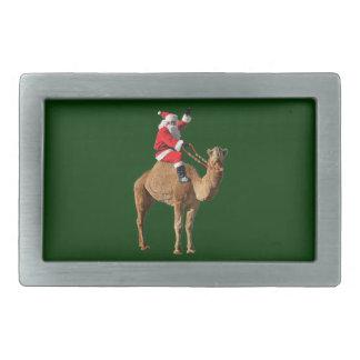 Christmas Hump Day Camel and Santa Rectangular Belt Buckle