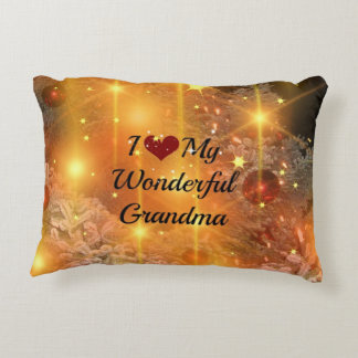 Christmas - I Love My Wonderful Grandma Accent Pillow