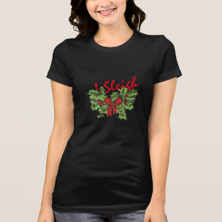 christmas i sleigh emoji funny shirt-design T-Shirt