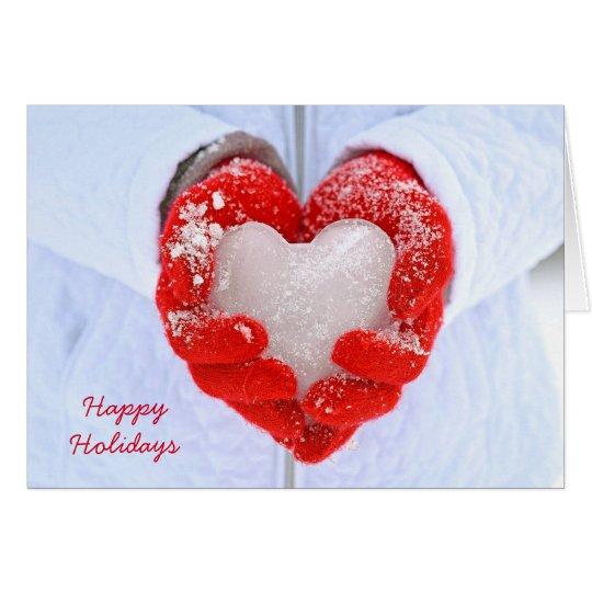 Christmas Ice Heart Card