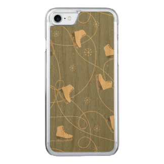 Christmas ice skates pattern - Christmas gifts Carved iPhone 8/7 Case