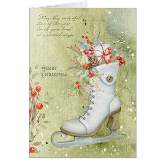 Christmas ice skating card