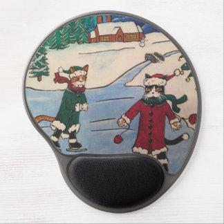 Christmas Ice Skating Gel Mouse Pad