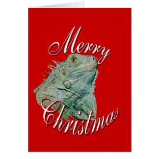 Christmas Iguana Card