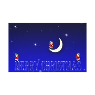 Christmas image on convas stretched canvas print
